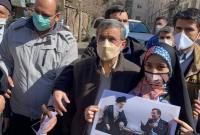 دیدار جمعی از مردم انقلابی استان البرز در میدان ۷۲ نارمک با دکتر احمدینژاد