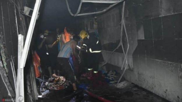 شب خونین بغداد/ انفجار در بیمارستان مبتلایان کرونا + تصاویر