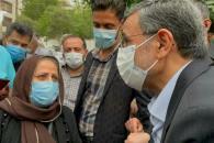 دیدار مردمی با دکتر احمدی نژاد در میدان ۷۲ نارمک