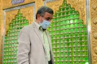 حضور دکتر احمدی نژاد در امامزاده پنج تن لویزان