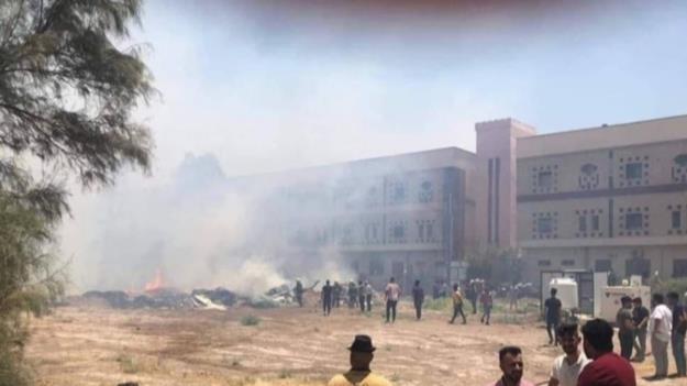 آتش سوزی در پایگاه هوایی امام علی (ع) در الناصریه