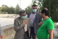 آب روی آتش؛ صحبت درگوشی دکتر احمدینژاد با جوان معترض