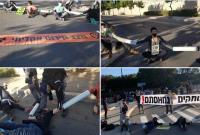 ورودیهای پارلمان رژیم صهیونیستی توسط معترضین بسته شد