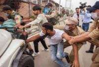 حمله پلیس هند به عزاداران حسینی در کشمیر+تصاویر