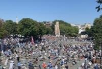 برگزاری اولین نماز جمعه در «ایا صوفیه» بعد از حدود یک قرن+تصاویر