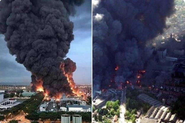 انفجار مهیب در حومه «بریستول» انگلیس/ تعداد زیادی زخمی شدند