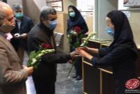 در حاشیه حضور دکتر احمدینژاد در یکی از بیمارستانهای تهران