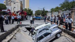 نشست زمین در مجاورت دانشگاه هنر تبریز