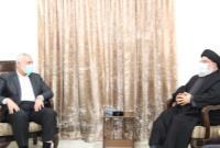 دیدار اسماعیل هنیه با دبیرکل حزبالله لبنان